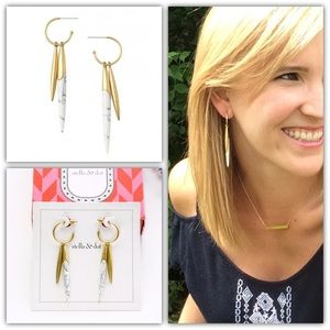 Stella and Dot Quill Drop Earrings